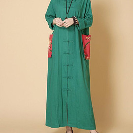 large size dress - spring Loose Long Hooded Maxi dress long sleeved large size dress