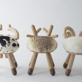 kamina&C - cow chair/sheep chair by  / kamina&C