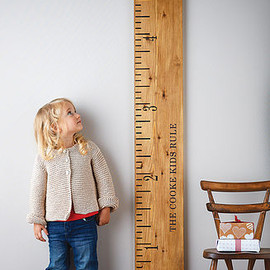lovestruck interiors - 'Kids Rule' Wooden Ruler Height Chart Mid Oak