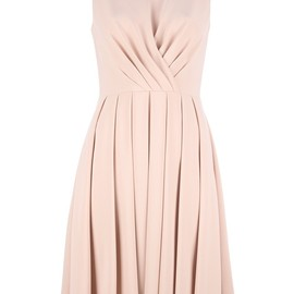 VALENTINO - Nude silk sleeveless dress