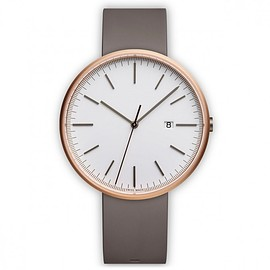 Uniform Wares - M40 - rose gold/grey  nitrile rubber strap