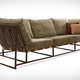 WWII Army Surplus Fabric Makes Great Military Furniture