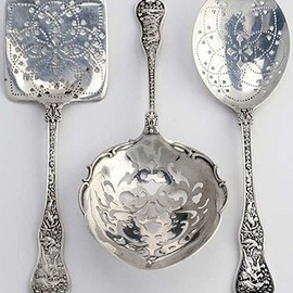 Tiffany & Co. - 3 'Olympian' Silver Serving Pieces