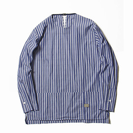 Meanswhile - Argane Oil Cotton Stripe Pullover SH