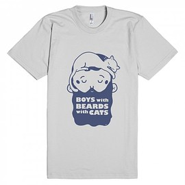 Boys With Beards With Cats - BWBWC logo tee