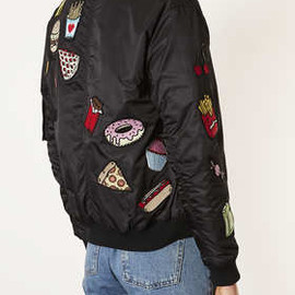 TOPSHOP - Food Badge MA1 Airforce Bomber