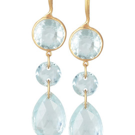 Marie-Helene de Taillac - aquamarine earrings