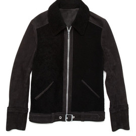 Balenciaga - Shearling and Suede Jacket
