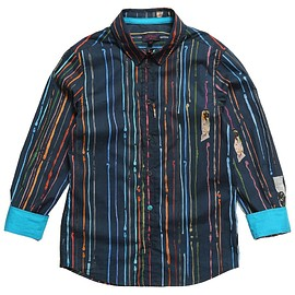 Paul Smith Junior - Boys Navy Blue Cotton 'Gilbert' Shirt