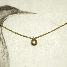 Rust - rosecut diamond necklace