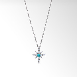 STAR JEWELRY - CROSSING STAR PARAIBA TOURMALINE NECKLACE