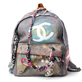 CHANEL - SS2014 Canvas Graffiti Backpack
