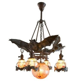 Art noveau bat chandelier
