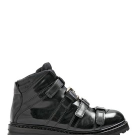 DOLCE&GABBANA - 35MM MULTI BUCKLE BRUSHED LEATHER BOOTS