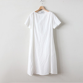 YAECA|WOMEN - WRAP DRESS S/S #WHITE [98706]