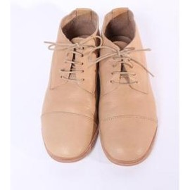 evam eva - vegetable tanned leather straight tip shoes