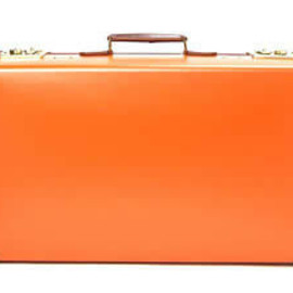"GLOBE-TROTTER - original 30"" suit case Orange"
