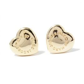 MARC BY MARC JACOBS - DOMED LOGO HEART STUDS