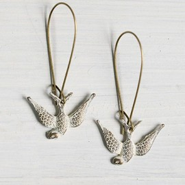 Soar Brass Bird Earrings