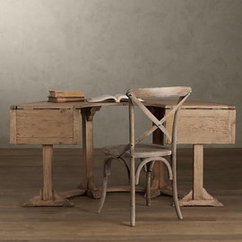 RESTORATION HARDWARE - Circa 1910 English Demilune Desk