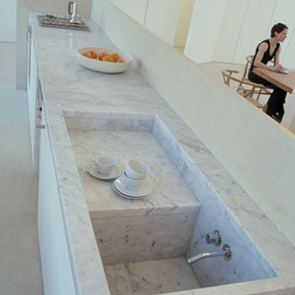 Claudio Silvestrin - Carrara Marble Kitchen (in Claudio Silvestrin's Penthouse)