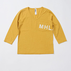 MHL. - PRINTED JERSEY POCKET 3/4 SLEEVE T-SHIRT