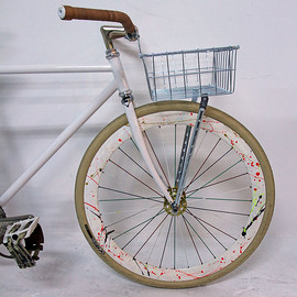 *WALD* front basket small (silver)