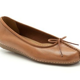 Clarks - Clarks Freckle Ice, Dark Tan Leather, Womens Casual Shoes