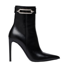BALENCIAGA - Leather and metal boots