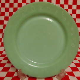 Jadeite Magic Gallery - Fire King Jadeite Restaurantware G306 Dinner Plate #25
