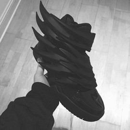 adidas originals - ADIDAS ORIGINALS BY JEREMY SCOTT JS WINGS 3.0 DARK KNIGHT