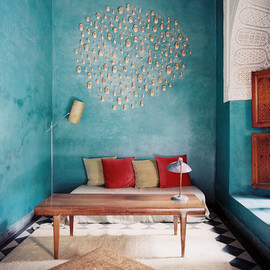 wall decor - Lonny Magazine August 2012 | Photography by Patrick Cline; Interior Design by Riad El Finn