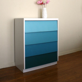 PinkPianos - Ocean Waves Ombre Painted Wood Dresser