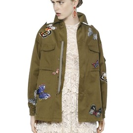 VALENTINO - RESORT2015 BUTTERFLY EMBELLISHED COTTON JACKET