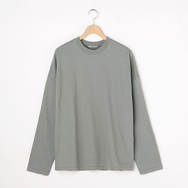SEAMLESS HI NECK L/S TEE #WHITE [A8AT03ST]