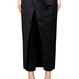 ALEXANDER WANG - Front Tucked Skirt Pants.