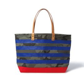 SOPHNET. - CAMOUFLAGE BORDER TOTE/RED