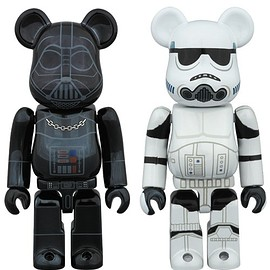 BE@RBRICK - BE@RBRICK DARTH VADER(TM) CHROME Ver.100% &STORMTROOPER(TM) CHROME Ver.100%