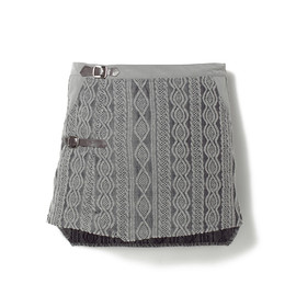 white mountaineering - WOOL COTTON CABLE KNIT JACQUARD SKIRT
