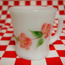 Fire King - Peach Blossom D-Handle Mug #45