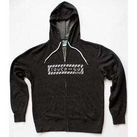 TOUCH AND GO - HOODIE (CHARCOAL HEATHER GRAY WITH GRAY INK) M