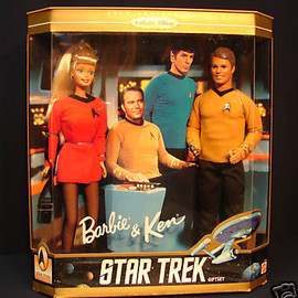 mattel - STAR TREK BARBIE KEN DOLLS 1996