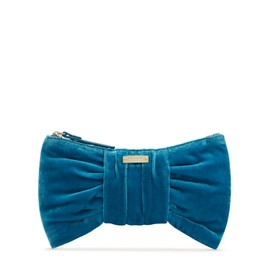 kate spade NEW YORK - Small Rosalie Deluxe Plush Pouch/ Clutch Bag Blue