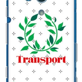 SECOND SKIN - Transport Laurel クロスドット ホワイト (クリア) design by Moisture / for Xperia acro HD SO-03D/docomo