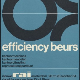 Wim Crouwel - efficiency exhibition poster (1964)