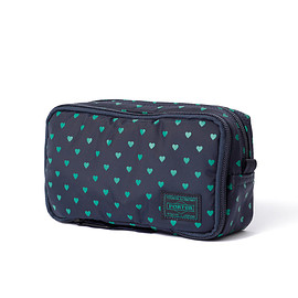 "HEAD PORTER - ""LYRA"" GROOMING POUCH NAVY"