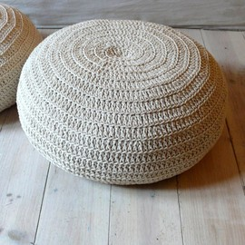 lacasadecoto - Floor Cushion Crochet- ecru