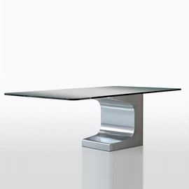 Oscar Niemeyer - Aluminium & Glass table