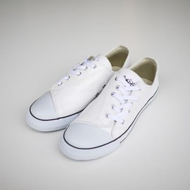 GANRYU - GANRYU COMME des GARCONS LEATHER SNEAKER (WHITE) 2012SS