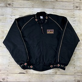 VINTAGE - Vintage 90s Mule Days Black Western Cotton Canvas Jacket Made in USA Mens Size XL